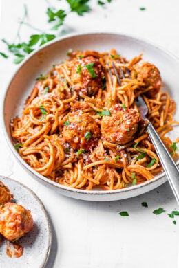 Instant Pot Spagetti and Trukey Meatballs