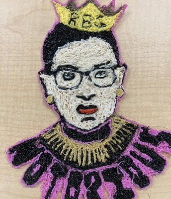 Portrait of Ruth Bader Ginsburg.
