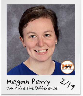 "Megan Perry  - ""You Make a Difference"" Teacher of the Month"