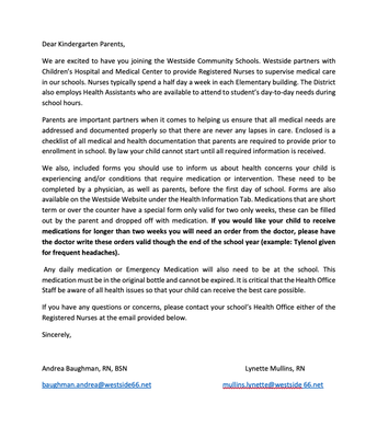 Letter From the Nurses