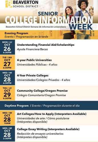 Senior College Information Week