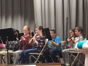 CES 4th graders playing their recorders