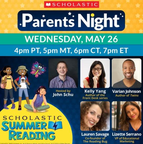 scholastic parents night invitation poster