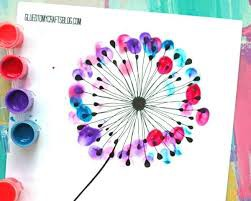Finger Print Dot Painting: