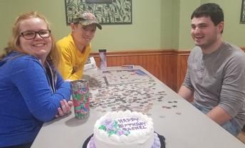 Celebrating Rachel's Birthday