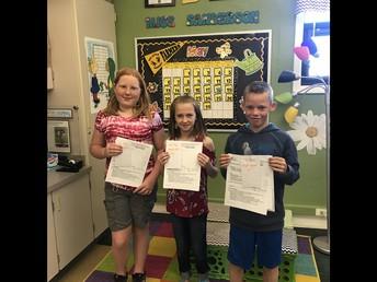 4th Grade Essay Winners