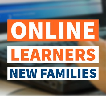 online learners new families graphic