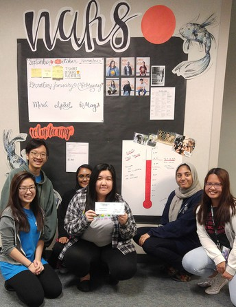 The Kerr High School National Art Honor Society (NAHS) collected funds to help a local no-kill animal shelter.