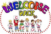Welcome Back!!  School Resumes Tuesday, August 28
