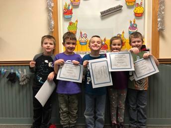 Kindergarten Perfect Attendance - January