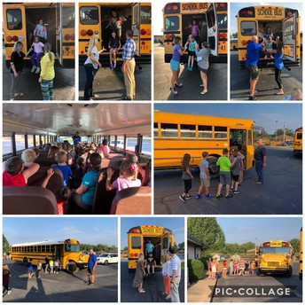 We Practiced Bus Safety!