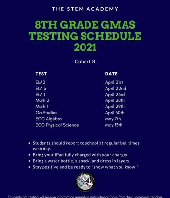 8th Grade - Cohort B