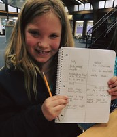 2nd grade learns to take notes