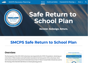 SMCPS Recovery and Return to School Plan