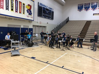 UHS Jazz Band with two wonderful sets as students arrive and leave!