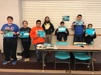 SLCHS Graduate Teaches Transitions Students Art at Central Library