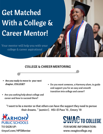 College & Career Mentoring Announcement for Juniors & Seniors