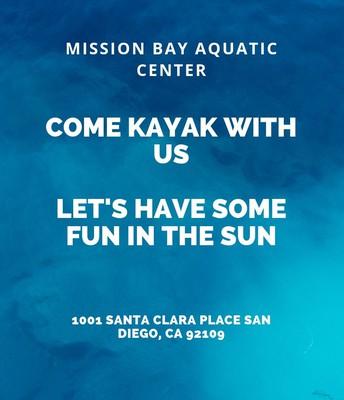 Kayaking at Mission Bay Aquatic Center