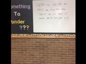 Principal's Ponder Board