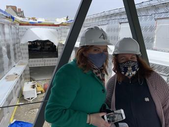 Principal Moulton and Ms. Fitzpatrick on the Hosmer Bridge