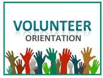 Volunteer Orientation- Friday, September 6th at 8 AM