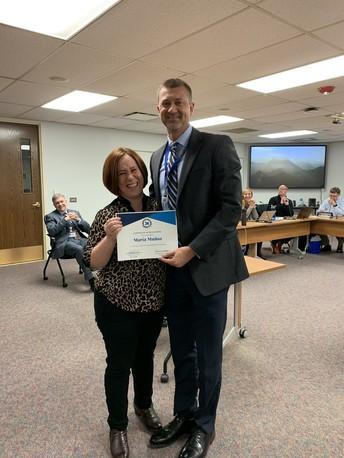 Honoring an Award-Winning Teacher