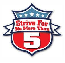 Strive For No More Than Five