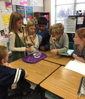 Mrs. Cohen's class investigating sound