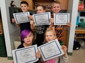 5th grade Perfect Attendance