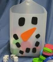 Milk jug toss game