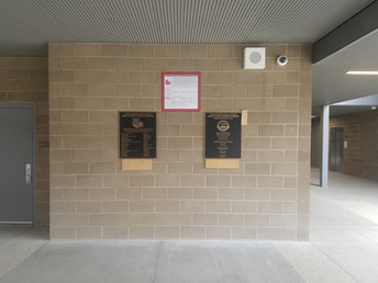 The Dedication Plaques for Main Street have been installed!