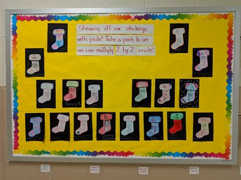 Multiplication bulletin board