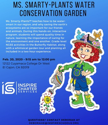 Ms. Smarty-Plants Water Conservation Garden