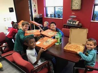 Perfect Attendance Pizza Party for the Second Six Weeks!