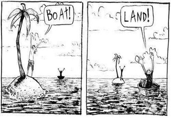 Boat or land?