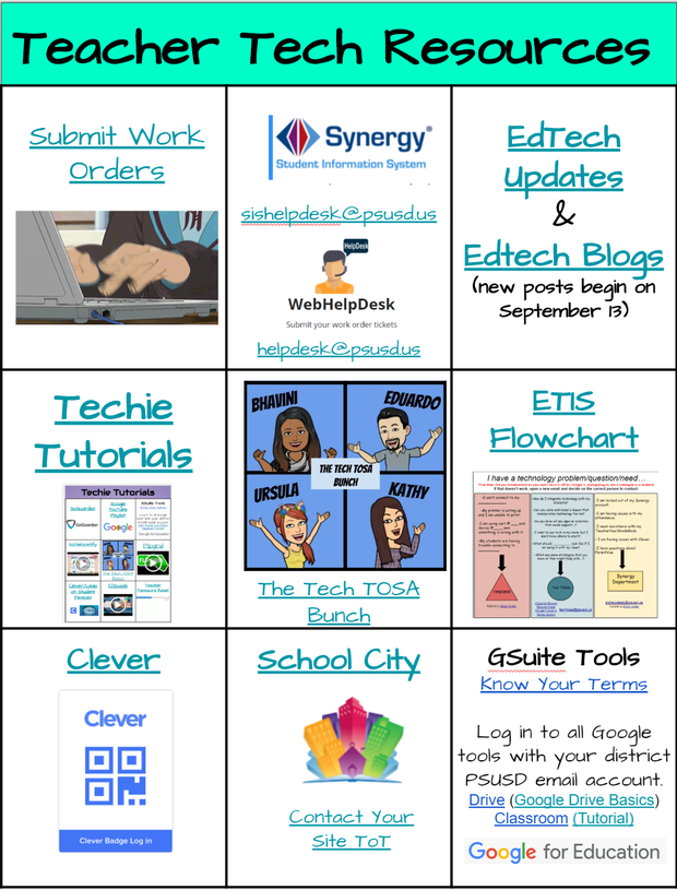 Teacher Tech Resources