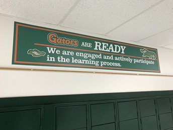 Attractive Banners Grace the Hallways