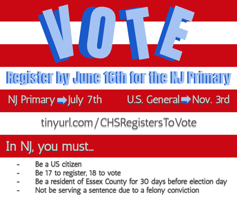 Class of 2020 & 2021 Register to Vote: Message from CHS Student Council's Voter Registration Committee