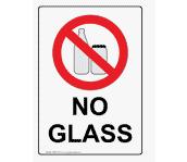No glass bottles