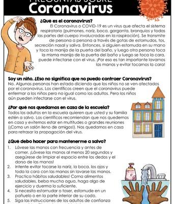 Guía de recursos para estudiantes sobre coronavirus