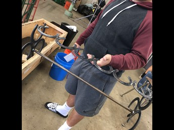 Crafting boot racks in Welding! It's for sale...