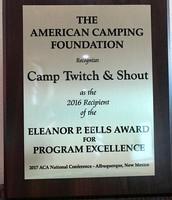 National Program of Excellence Award!