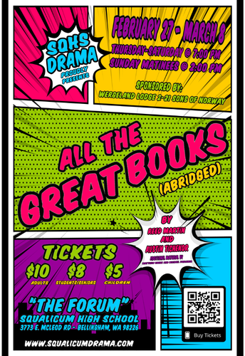 """SQHS Drama Presents """"All the Great Books"""""""