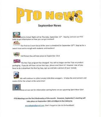 September PTO News