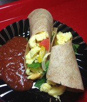 An Eggarito Burrito with Salsa will wake you up!