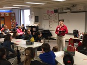 Physical Therapist meets with 5th Grade