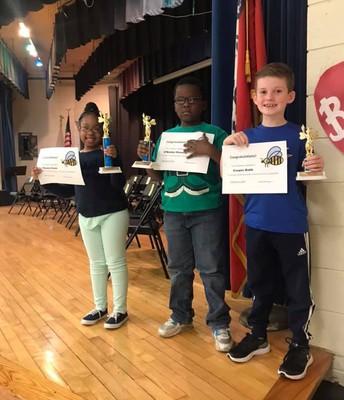 Perritt 1st Grade Spelling Bee Winners