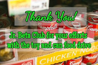Thank you Jr. Beta Club!