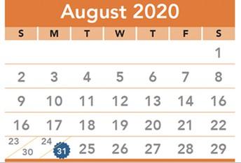 2020-21 Academic Calendar from Lexington One