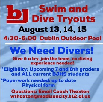 BJHS Swim Team Tryouts